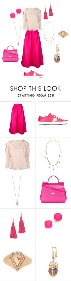 """STREET FASHION"" by ramakumari ❤ liked on Polyvore featuring Delpozo, Philippe Model, Fendi, Emily & Ashley, Sydney Evan, Dolce&Gabbana, Kenneth Jay Lane, Kate Spade, Jacquie Aiche and Aurélie Bidermann"