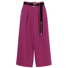 STOUT WIDE PANTS (¥19,224) ❤ liked on Polyvore featuring pants, wide-leg pants, wide-leg trousers and purple pants
