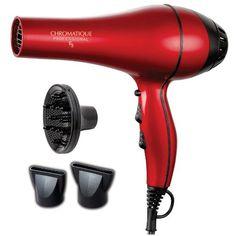 Chromatique Professional E3 5200 Tourmaline Ionic Ceramic Salon Hair Dryer Metallic Red - http://beauty.reviewsbrand.com/chromatique-professional-e3-5200-tourmaline-ionic-ceramic-salon-hair-dryer-metallic-red.html