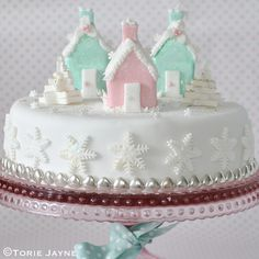 Christmas Village cake  recipe by Torie Jayne