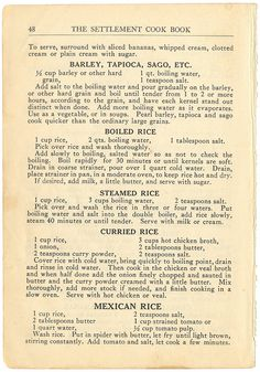 Retro Recipes, Old Recipes, Vintage Recipes, Cooked Rice Recipes, Carrot Recipes, Healthy Recipes, Homemade Cookbook, Cookbook Recipes, Cooking Recipes
