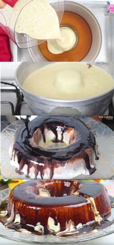 PUDIM DE SORVETE – FÁCIL E MUITO SABOROSO - Aprenda um delicioso Pudim de Sorvete que além de ser espetacularmente delicioso é um pudim muito refrescante para os dias de calor! #pudim #pudimdesorvete #sorvete #sobremesa #receitadepudim #receita