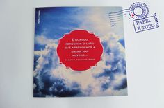 """Cartão Pra Enfeitar o Olhar - """"Nuvens"""" - Papel e Tudo"""