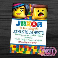 PRINTABLE INVITATION  Lego Movie  Birthday by PartyHeadquarters, $10.99