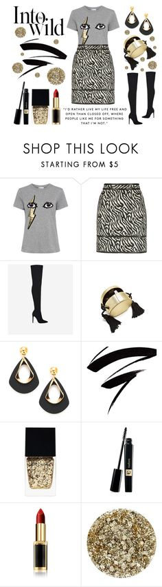"""""""Living Out Loud"""" by latoyacl ❤ liked on Polyvore featuring RED Valentino, Dsquared2, Hillier Bartley, Witchery, L'Oréal Paris, Smith & Cult and Anja"""