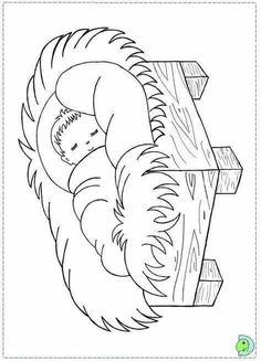 coloring pages of christmas manger scene - Saferbrowser Yahoo Image Search Results Christmas Activities For Kids, Preschool Christmas, Christmas Manger, Kids Christmas, Bible Coloring Pages, Coloring Books, Nativity Coloring Pages, Christmas Drawing, Christmas Coloring Pages