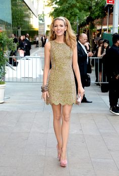 Blake lively in gold
