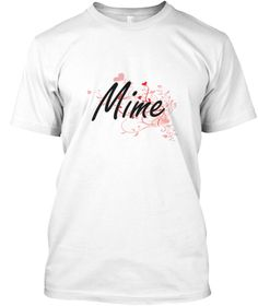 Mime Heart Design White T-Shirt Front - This is the perfect gift for someone who loves Mime. Thank you for visiting my page (Related terms: Professional jobs,job Mime,Mime,mimes,mime,miming, mime,professional mime,myjobs.com,,jobs,I love Mi ...)