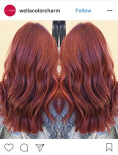 Wella Color Tango In 6rr Pomegranate And 6r Auburn Hair