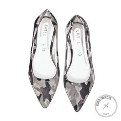 Good objects - Peasy grey army flats - @latelier13 from @asnajda #goodobjects watercolor illustration