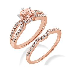 Hey, I found this really awesome Etsy listing at http://www.etsy.com/listing/121224158/pink-peach-morganite-diamond-matching