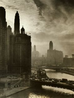 Chicago skyline, People used to party/dance up in that cupola there in the Marina City would go back on the right (years later of course). Chicago Art, Chicago River, Chicago Skyline, Chicago Illinois, Chicago Pictures, Chicago Street, Chicago Cubs, Old Pictures, Old Photos