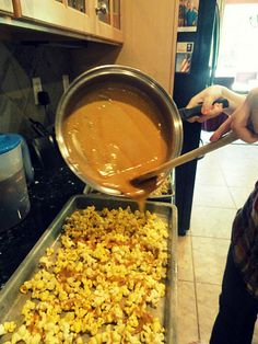 Homemade Caramel Corn!!! - Best one I've found! Turns out great and tastes even better! Double the batch :)