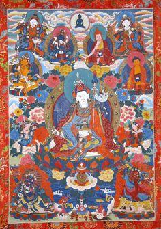 Guru Rinpoche (Padmasambhava) with 8 Manifestations - KPC thanka
