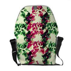 Floral Bougainvillea pattern No.2 Messenger Bag