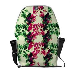 Floral Bougainvillea pattern No.2 Messenger Bag