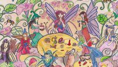 Wonderful Fairy Art Tinkers At Tea by goldielocksgirl on Etsy