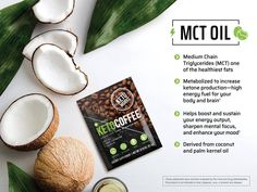 Fuel your body and brain with It Works! Kills cravings and satisfies hunger. Coconut Oil Coffee Benefits, Mct Oil Benefits, Coconut Oil For Dogs, Coconut Oil For Skin, It Works Marketing, Online Marketing, It Works Distributor, It Works Global, It Works Products