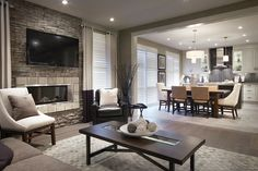 A nice modern formal living room right off the eat-in kitchen.