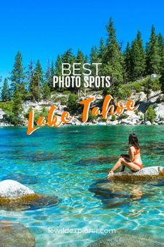 Lake Tahoe is an absolute dream place to photograph due to its natural beauty. If you're planning a trip, check out the best photo spots in Lake Tahoe! Lake Tahoe Vacation, Vacation Spots, Lake Tahoe Summer, Vacation Ideas, Lake Tahoe Nevada, South Lake Tahoe Hikes, Lake Tahoe Hiking, Places To Travel, Places To See