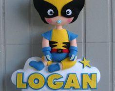 Baby Super Hero, Custom Superhero Dolld, Marvel Super Hero Wolverine, Boy Super Hero Doll, Personalized Hero, Felt, Handmade Super Hero BB 3