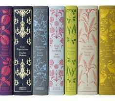 love these classic novels new vintage inspired book covers.. dresses up a bookshelf ... I  want them all!