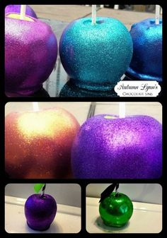 Glitter Candied Apples  Glittered Apple Halloween Fall Sweet Table | AutumnLynnsSins - Edibles on ArtFire