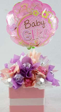 Baby Girl Chocolate Bouquet Liquor Bouquet, Candy Bouquet, Chocolate Favors, Chocolate Bouquet, Candy Cakes, Delicious Chocolate, Gift Packaging, Favours, Gift Baskets