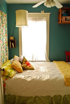 """I want this color: Behr from Lowes, #500F-6 """"Hallowed Hush"""".  Loved this house tour when I saw it on Apartment Therapy a few months ago. Check it out for you maximalists out there http://www.apartmenttherapy.com/chicago/house-tours/stacey-johns-crazy-quilt-of-an-apartment-house-tour-149586"""