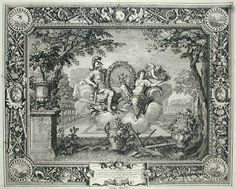 The Seasons: Spring, engraving after Charles LeBrun