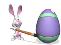 Discover & share this Easter Bunny GIF with everyone you know. GIPHY is how you search, share, discover, and create GIFs. 3d Animated Gif, 3d Gifs, Egg Gif, Bunny Painting, Coloring Easter Eggs, 3d Animation, Easter Bunny, Sunshine, Seasons