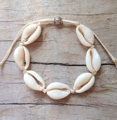 beach jewelry cowrie shell bracelet beautiful cowrie shells knotted onto hard wearing water resistant waxed cord. Mermaid Jewelry, Seashell Jewelry, Beach Jewelry, I Love Jewelry, Jewelry Making, Jewelry Ideas, Silver Jewelry, Armband Tutorial, Armband Diy