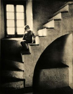 Halfway Down, 1937   vintage photography: halftone print   By Walter S. Meyer