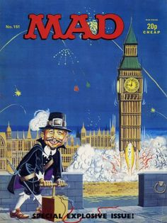 Mad Magazine – The Magic Robot Vintage Comics, Vintage Books, Mad Magazine, Life Magazine, Magazine Covers, Alfred E Neuman, Guy Fawkes Night, Ec Comics, Happy Guy