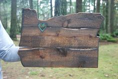 I have this in my home and I LOVE it!  Rustic state of Oregon wall mount silhouette.  Visit themossymoose on Etsy!