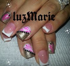 Instagram photo of acrylic nails by _luzmarie_