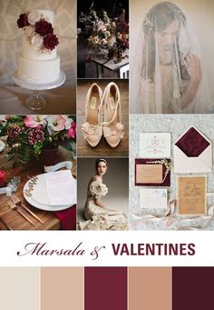 These reds and muted tones are really beautiful, and they work great if you're planning to get married around Valentine's Day.