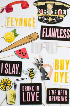 Beyonce Photo Booth Props