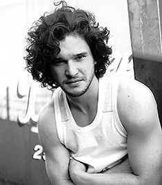 """halosydnes: """" My parents brought us up in a very clever way, which was that they saw what we were interested in naturally, and then they encouraged whatever that may be. When I started sharing a keen. Kit Harington, Pretty Men, Beautiful Men, Long Curly Hair, Curly Hair Styles, Jon Snow, Kit And Emilia, Grunge Guys, King In The North"""