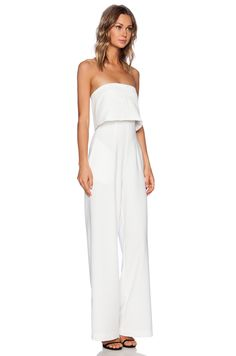 0a7407c20db9 SOLACE London Tailor Jumpsuit in White Tailored Jumpsuit