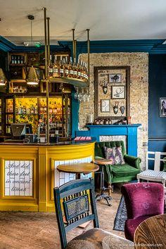 East Dulwich, London - A Beautiful Guide to the Area Coffee Shop Interior Design, Pub Design, Deco Restaurant, Restaurant Design, Cave Bar, Lounge Bar, Man Cave Garage, Garage Pub, Secret Bar