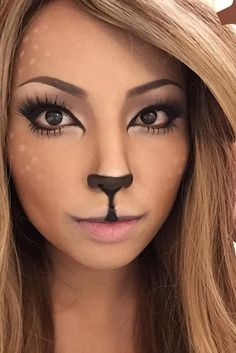 I definitely want to try the little deer look #Coolcatmakeupideas