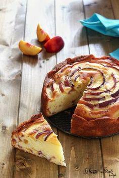 Torta soffice alle pesche e yogurt senza burro ricetta Dulcisss in forno by Leyla