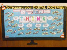 THINK bulletin board Computer Lab Decor, Computer Lab Classroom, Computer Teacher, Computer Class, Future Classroom, Computer Science, Library Bulletin Boards, Bulletin Board Display, Technology Posters