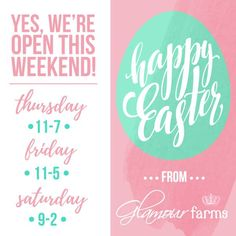 Happy Easter from Glamour Farms!