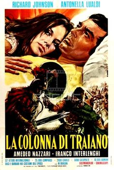 Italian poster of COLUMNA Nice evocative poster, a bit too 'romance novel' like when you consider the movie but the likenesses are o. Italian Posters, Epic Movie, Film Institute, Cult Movies, Film Review, Barbarian, Illustrations And Posters, Film Posters, Romance Novels