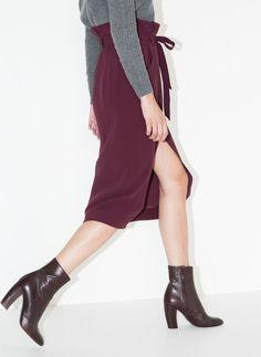 Falda cinturón - Nuevo en tienda - Uterqüe España