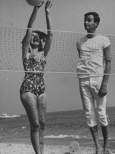 Vintage beach volleyball