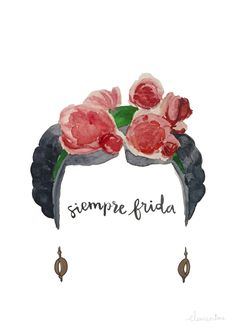 """""""Illustrations in watercolor"""". A project by clementine_ds Watercolor Illustration, Watercolor Paintings, Cute Flower Drawing, Kahlo Paintings, Frida Art, Free Illustrations, Wallpaper Backgrounds, Pop Art, Art Projects"""