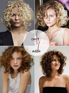 cabelo médio cacheado